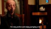 Човек със заболяване на преждевременно остаряване участва в маратон