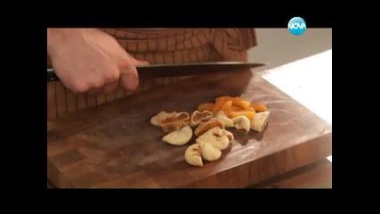 Пица от карфиол, пилешки бутчета по провансалски, кейк със сушени плодове - Бон Апети (05.02.2013)