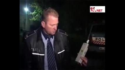 Пиян полицай !