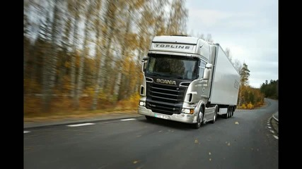 The new Scania V8 truck range power and style R 730