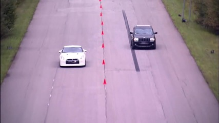 Nissan Gt-r Stage 2 vs Jeep Grand Cherokee Srt-8 Supercharged
