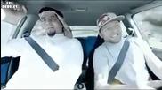 Този арабин май за пръв път се вози в кола (смях)