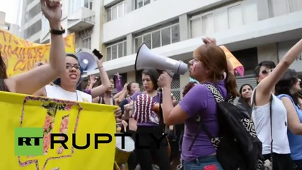 Brazil: 'SlutWalk' hits Sao Paulo calling for legalisation of abortion *EXPLICIT*