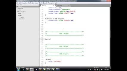 Изграждане на Web графични интерфейси- Втора Psd тема