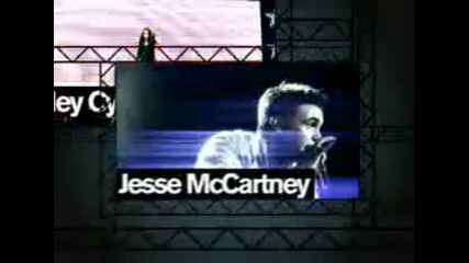 Demi Lovato Miley Cyrus and Jesse Mccartney live Concert for hope