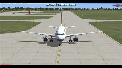 Успешно кацане със Airbus A319 :) Жалко ,че Полет 9525 Не Кацна Поклон Пред Светлата Памет На 9525:(
