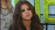 Selena Gomez returns to her trademark glossy look after frazzled arrival at airport