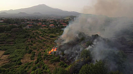 Italy: Sicilian province of Catania hit by wildfires