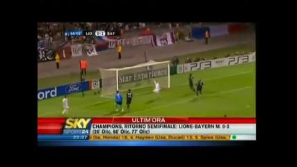 Lyon 0:3 Bayern Munich 27.04.2010