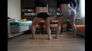 Две момичета танцуват :*