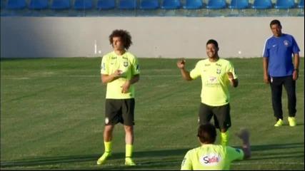 Бразилия тренира с настроение преди мача с Колумбия