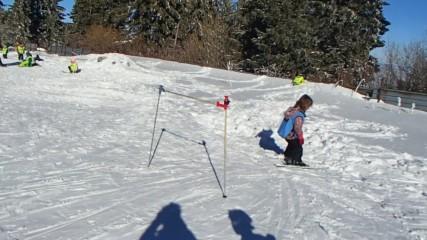Кати на ски-