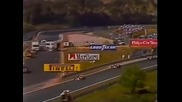 F1 1988 Senna Vs Prost Dangerous Overtake Portugal Gp Estoril Opening Laps Mclaren Bbc