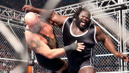 Daniel Bryan vs. Mark Henry vs. Big Show – World Heavyweight Title Triple Threat Cage Match: Royal Rumble 2012 (Full M