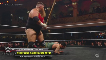 Dave Mastiff batters Eddie Dennis with a Kendo stick: NXT UK TakeOver: Blackpool (WWE Network Exclusive)