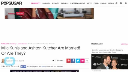 Mila Kunis and Ashton Kutcher Are Married! Or Are They?