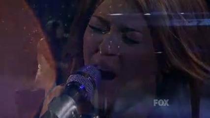 И Казвате ,че Не Може Да Пее?!невероятно изпълнение на Майли - When I Look At You