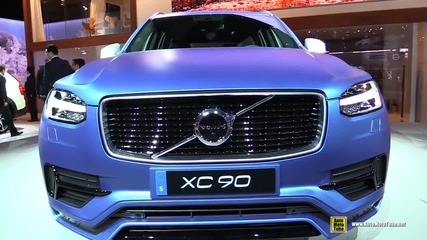 2016 Volvo Xc90 T6 Awd R-design - Exterior and Interior Walkaround - 2015 Detroit