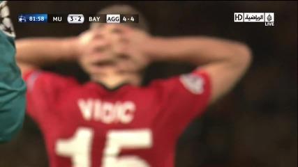 Man. U. - Bayern 3 - 2 A. Robben Goal