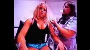 Trish Stratus Backstage Taking Before The Strap Match With Lita