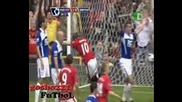 Манчестър Юнайтед 1 : 0 Бирмингам Руни гол 16.08.09