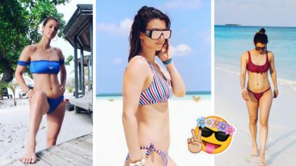Малдивска екзотика с роден привкус: Цвети Пиронкова заслепява със сексапил!