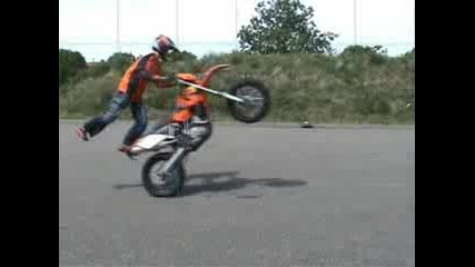 Ktm motocross stunt