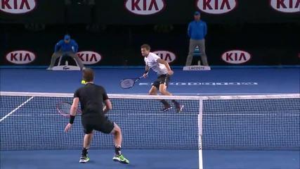Класа! Вижте каква точка спечели Григор Димитров срещу Анди Мъри ( Australian Open 2015 )