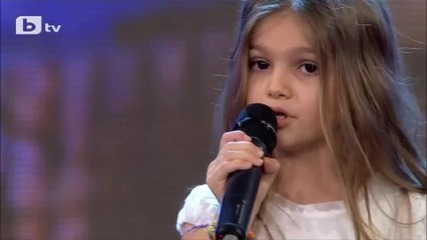 Малко момиче взриви всички с гласа си - България Търси Талант -2015