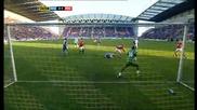 Манчестър Юнайтед 4 - 0 Уигън Фабио Първи Гол За Юнайтед *hq*