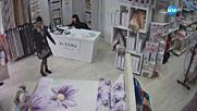 """""""Дръжте крадеца"""": Крадли задигат портфейла на продавачка в магазин"""