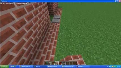 Minecraft -как да си направим пистън врати / яко /