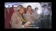 Анди Шлек се прави на репортер. :)