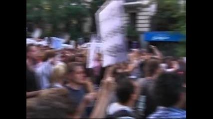 Сблъсъци между полиция и демонстранти избухнаха в Мадрид