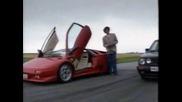 Lambo Diablo Срещу Golf Gti Mk2