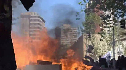 Chile: Police break up anti-govt demonstration on 5th day of unrest