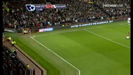 Paul Scholes Гол - Manchester United Vs Fulham (18.02.09)