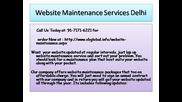 Website Maintenance Services Delhi
