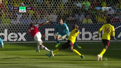 Арсенал разпечата вратата на Уотфорд