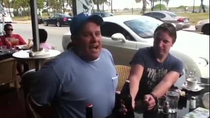Как се пият 3 бири без ръце за 1 минута