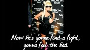 Lady Gaga - Alejandro* karaoke instrumental (no backing) with on screen lyrics