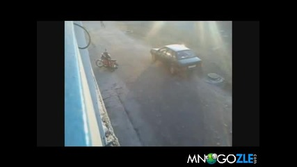 Пиян на мотопед