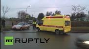 Russia: Bodies of 7K9268 victims arrive at St Petersburg crematoriuam