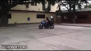 Полицейска тренировка с мотор завърши неочаквано зле !
