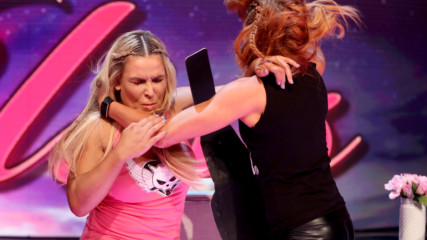 """Natalya and Becky Lynch brawl on """"A Moment of Bliss"""": Raw Reunion, July 22, 2019"""