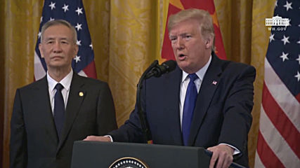 USA: Trump, Chinese Vice Premier Liu sign initial trade deal in Washington DC