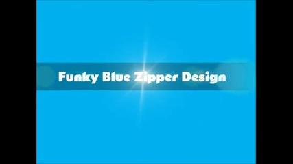 Идея за маникюр-синьо ципче (funky Blue Zipper)