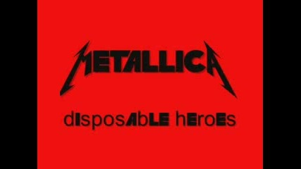 Metallica - Disposable Heroes - Drums
