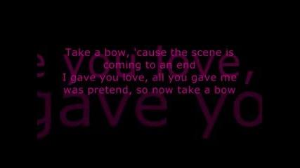 * Бг Превод* Една Балада На Leona Lewis - Taке A Bow с текст