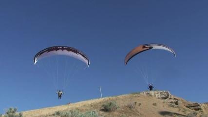 Paragliding Extreme Glider Control 5 Superdell vs His Student Superjake Evans Paramotor Paraglider -